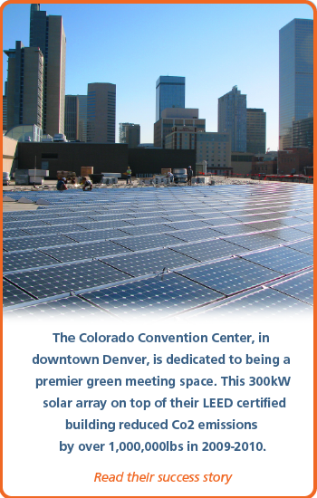 Colorado Convention Center solar panel install