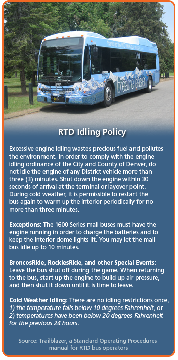 Regional Transportation District Idling Policy