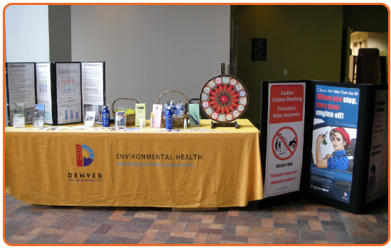Denver Department of Environmental Health Tabletop Display